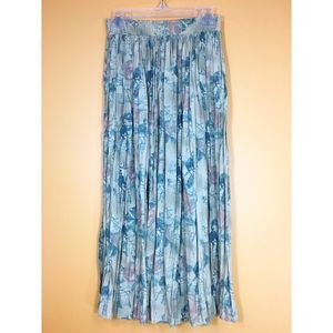 Vintage Skirts - Vintage OOAK Penny-Farthing Cyclist Maxi Skirt